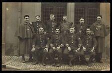 Cpa Carte Photo militaire sous officiers 44e RI Infanterie de Lons le Saunier