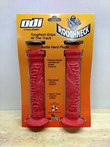 ODI Roughneck BMX Handgrips Red Grips Handlebar GT Haro Dyno Redline Schwinn