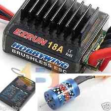 Ezrun 1/18 RC Car Brushless Combo 18T 5200KV Motor + 18A ESC 1/16 TRUCK BUGGY