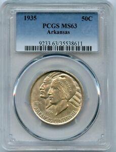 1935 Arkansas Commemorative Half Dollar 50c PCGS 63