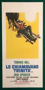 A LOCANDINA LO CHIAMAVANO TRINITA' TERENCE HILL BUD SPENCER  SPAGHETTI WESTERN