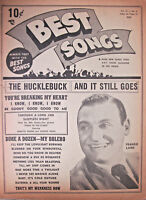 Best Songs Magazine Sept 1949 Vintage Music Book Frankie Laine 10 Cent Cover
