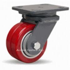 "S-WH-4SWF 4"" x 2"" Hamilton Poly Dual Wheel Swivel Plate Caster, 800 lbs Capacity"