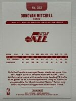 2017-18 Panini NBA Hoops #263 RED BACK ... Donovan Mitchell Rookie RC ... Jazz