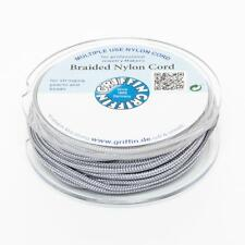 Geflochtene Nylonschnur 1,5mm dunkelgrau 10m Spule Nylonband braided cord