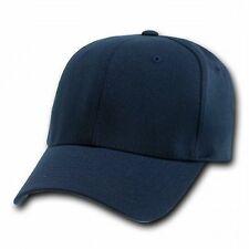 NAVY BLUE FLEX FIT ULTRA FIT BASEBALL CAP HAT CAPS HATS