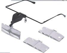 Bracket Headband Eye Goggle Flip Loupe Magnifying Glass VISOR Magnifier /w LED