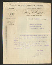 """NEVERS (58) OUTILS pour SABOTIERS & pour MACHINES à BOIS """"H. CHUET"""" en 1917"""