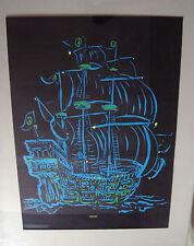 Ship of Love black light pin-up psychedelic 1971 platt poster co. boat vessel 71