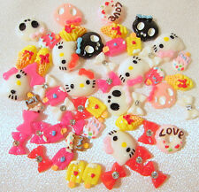 50pc Bows Hello Kitty Bee Skull Flatback Resin 3D Nail ART Cell Phone decoration