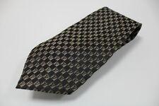 cravatta tie 100% seta silk soie DIAMONDS V PARIS grigio grey geometric (A074)