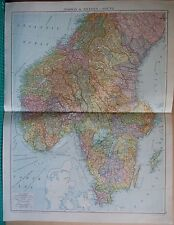 1919 LARGE MAP- EUROPE-NORWAY AND SWEDEN-SOUTH