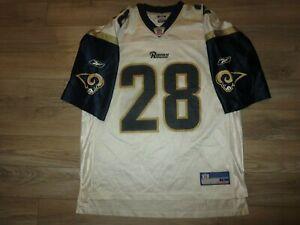 Marshall Faulk #28 St. Louis Rams Reebok Super Bowl Jersey Mens LG Large