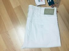 NWT Mens Armani jeans J31PV High Stretch Chino White Straight W33 L33 H8 RRP£150