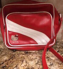 Vintage Sanrio Hello Kitty Red & White Airline Bag Purse Retro Style Crossbody
