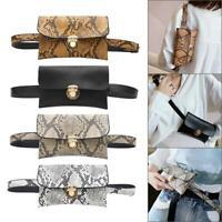 Women Waist Fanny Packs PU Leather Snake Print Crossbody Chest Shoulder Bag Lot