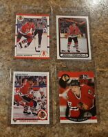 (4) Jeremy Roenick 1990-91 Upper Deck Score Pro Set Topps Rookie card lot RC