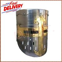 Medieval Knight Helmet with Chin Strap Re-enactment larp role-play fancy-dress
