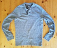 Men's Superdry Light Grey Marl Core Wash Chariot Long Sleeve Top - Size Small