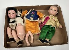 New ListingVintage Chinese 8� Composition Dolls With Original Cloths For Repair Tlc