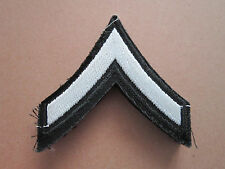 Private Black Silver Rank Insignia Military Woven Cloth Patch Badge (L1K)