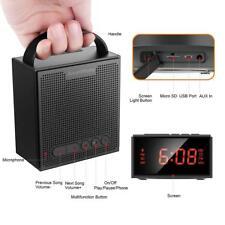 Bluetooth Speaker - MP3 Player - FM Radio - Alarm Clock - TF Memory Card Slot