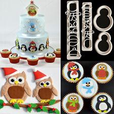 Penguin Icing Cutter Fondant Mould Cookies Cake Decorating Mold Sugarcraft Xmas
