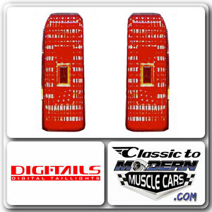 DIGI-TAILS LED Taillight Light Conversion Fits 81-88 Olds Cutlass / Red Panels