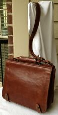 """""""I MEDICI, FIRENZE, natural leather, Made In ITALY"""" brown org'r-mess'gr-brief"""