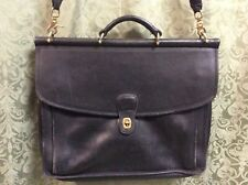 Coach Vintage G9-5266 Briefcase Satchel Messenger Laptop Man Bag Black purse !