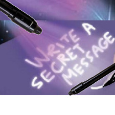 UV Light Invisible Ink Security Marker Secret Texta Pen Ultraviolet Blacklight