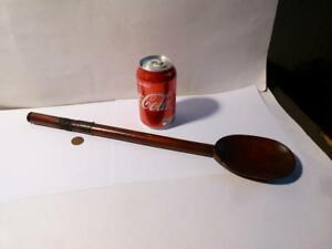 Long Wooden Spoon with A.B.C. 1911 R. HARRISON engraved Wall Plaque