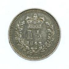 More details for 1843 1 1/2 pence queen victoria .925 fine silver b3