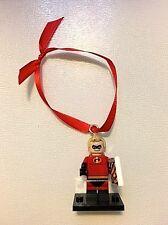 "LEGO Disney The Incrediable ""Mr. Incrediable"" Mini Figure Christmas Ornament New"
