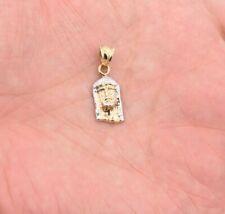"1"" Jesus Face Pendant Charm Diamond Cut Men Women Real 10K Two-Tone Yellow Gold"