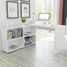 vidaXL Hoekbureau met 4 Schappen Wit Hoek Bureau Buro Bureel Kantoortafel