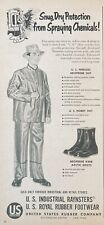 1955 AD(XG10)~U.S. RUBBER CO. NYC. INDUSTRIAL NEOPRENE SUITS
