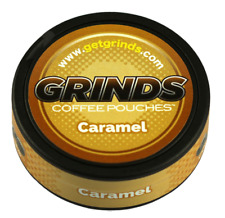 Caramel Container of Coffee Grinds Coffee Pouches as Seen on Shark Tank New