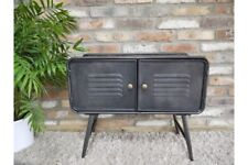 Industrial Factory Style Rustic Metal Side Cabinet Storage Unit / Bedside Table