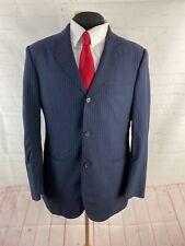 Alpe Solivo Men's Navy Blue Stripe Blazer 42R $225