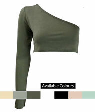 Unbranded Asymmetrical Neck Tops & Shirts for Women