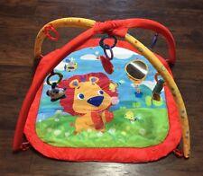 Infant Activity Soft Floor Play Mat w/3 Little Infant Toys GUC