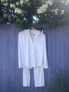 Victorias Secret White Pyjamas Xs