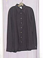 Men's Black Gangster Shirt 54cm Fancy Dress Costume Large (4) New