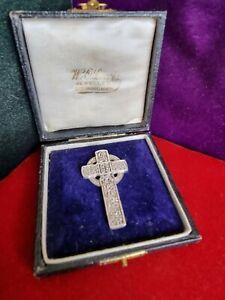 Large Sterling Silver Celtic Cross Pendant 925
