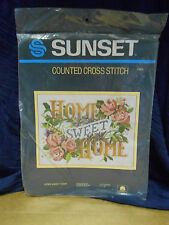"Sunset -""Home Sweet Home""-Counted Cross Stitch-Kit #2984"