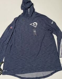 Los Angeles Rams Nike Lightweight Performance Long Sleeve Hoodie Sweater 3XL