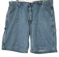 40 Men's VINTAGE Signature by Levi Strauss Carpenter Denim Shorts Blue Levi's