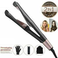 Professional 2 In 1 Hair Straightener Spiral Straightening Curling Fast Heating