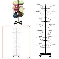 Hat Display Stand 7-Tier Retail Hat Rack Rotating Spinner Metal Floor Adjustable